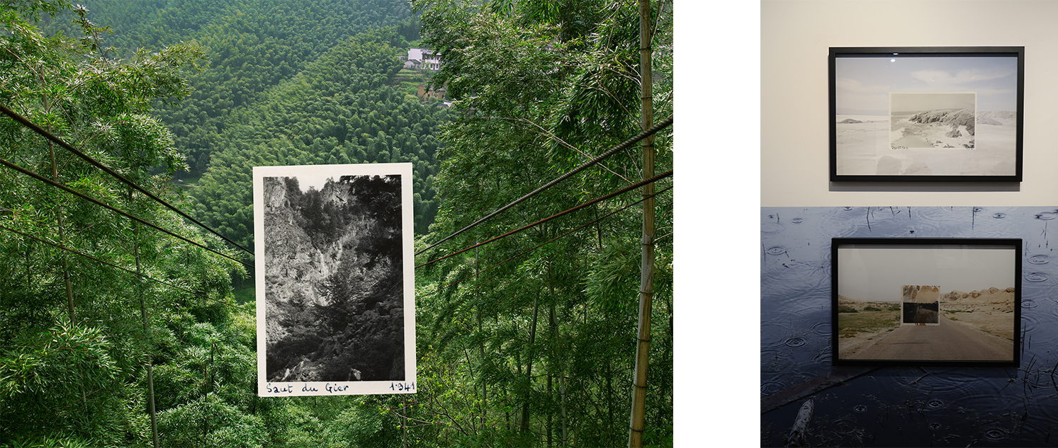 Left: Photograph from the series Kwei Yih © Zhen Shi Right: Exhibition view