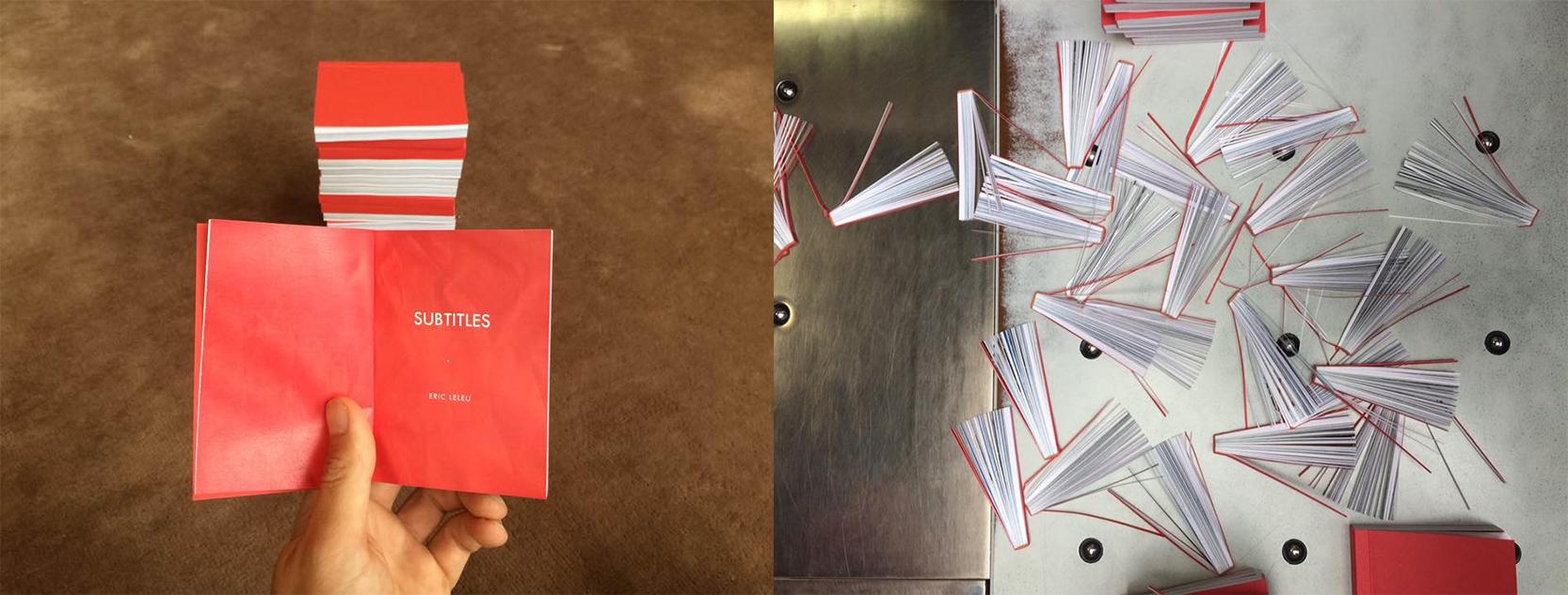 """Eric Leleu's book prototype for his series """"Subtitles"""" in 2017 © Eric Leleu"""