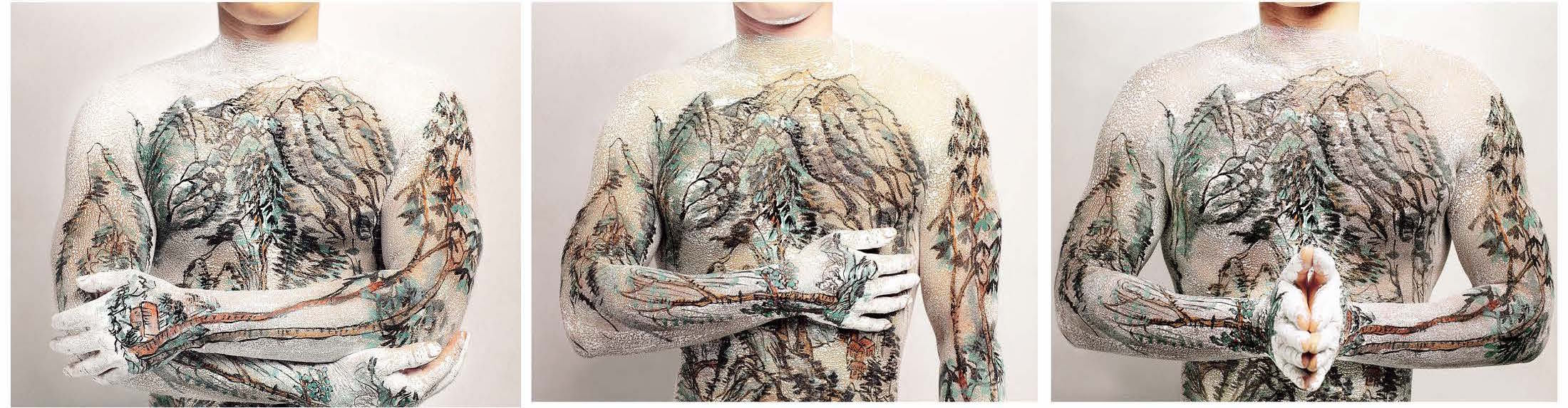 Huan Yan, Chinese Landscape Tattoo , 1999 / Courtesy the artist and the Walther Collection