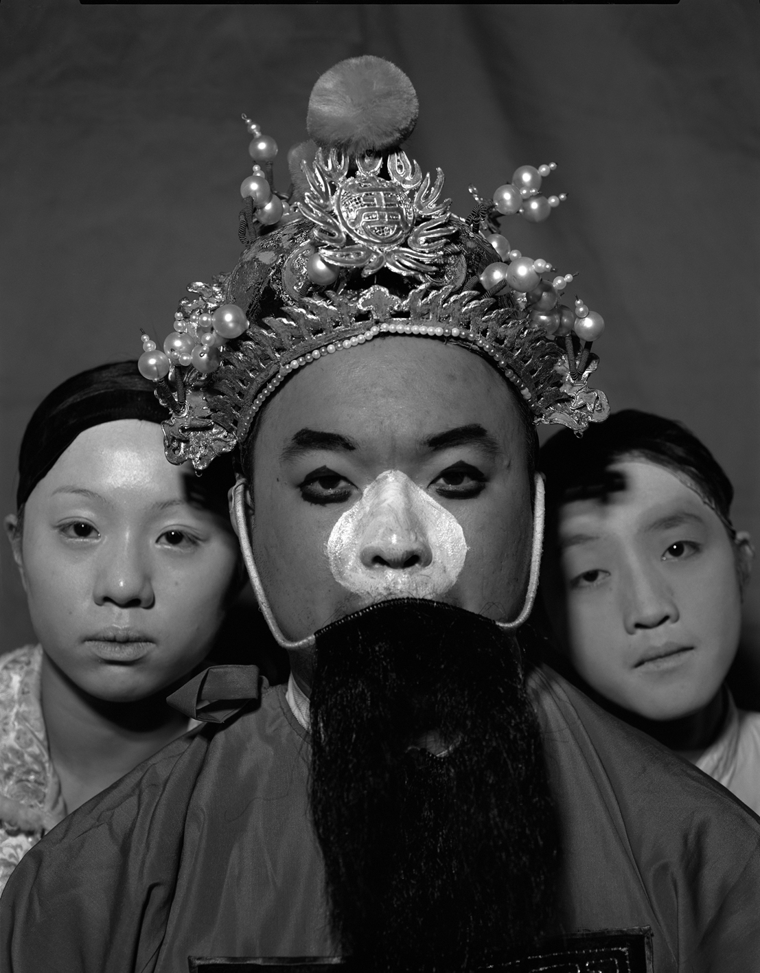 A Chinese opera clown professor with his pupils, 2005, 150x120cm