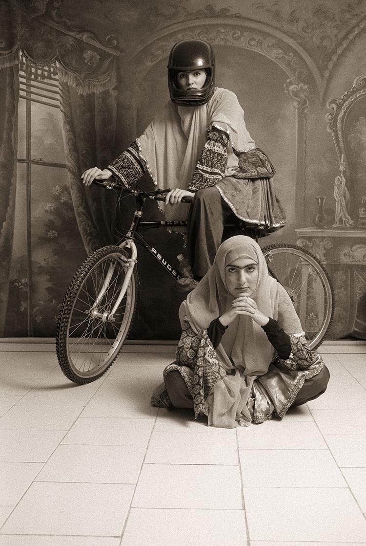 Shadi Ghadirian. Qajar, 1998.Courtesy of the artist and Silk Road Gallery
