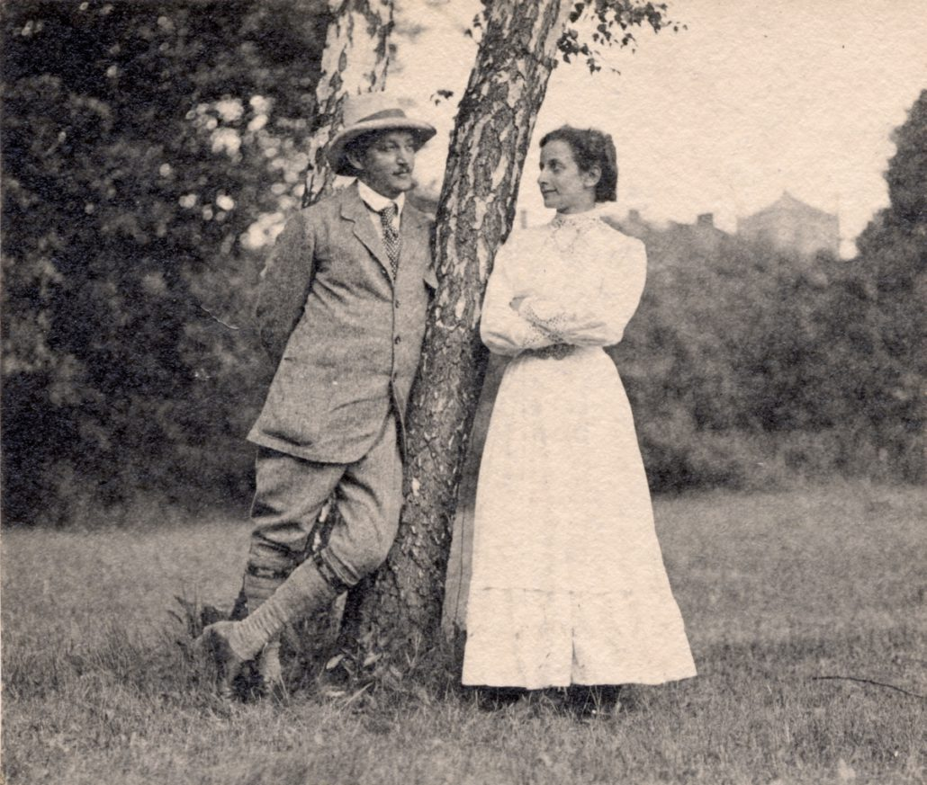 Hedwig and Fritz at Wannsee, Berlin, 1911