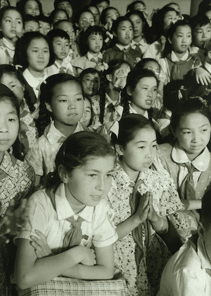 Opera for kid's, International Children's Day, Peking Hotel, Caucasian girl in foreground 1 June 1956 | Courtesy of Tom Hutchins Images Ltd., New Zealand