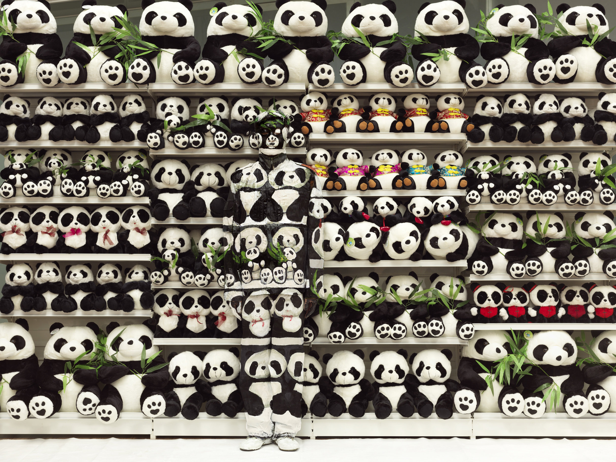 Liu Bolin,  Panda_Hiding in the City,  2011 | Courtesy Galerie Paris-Beijing