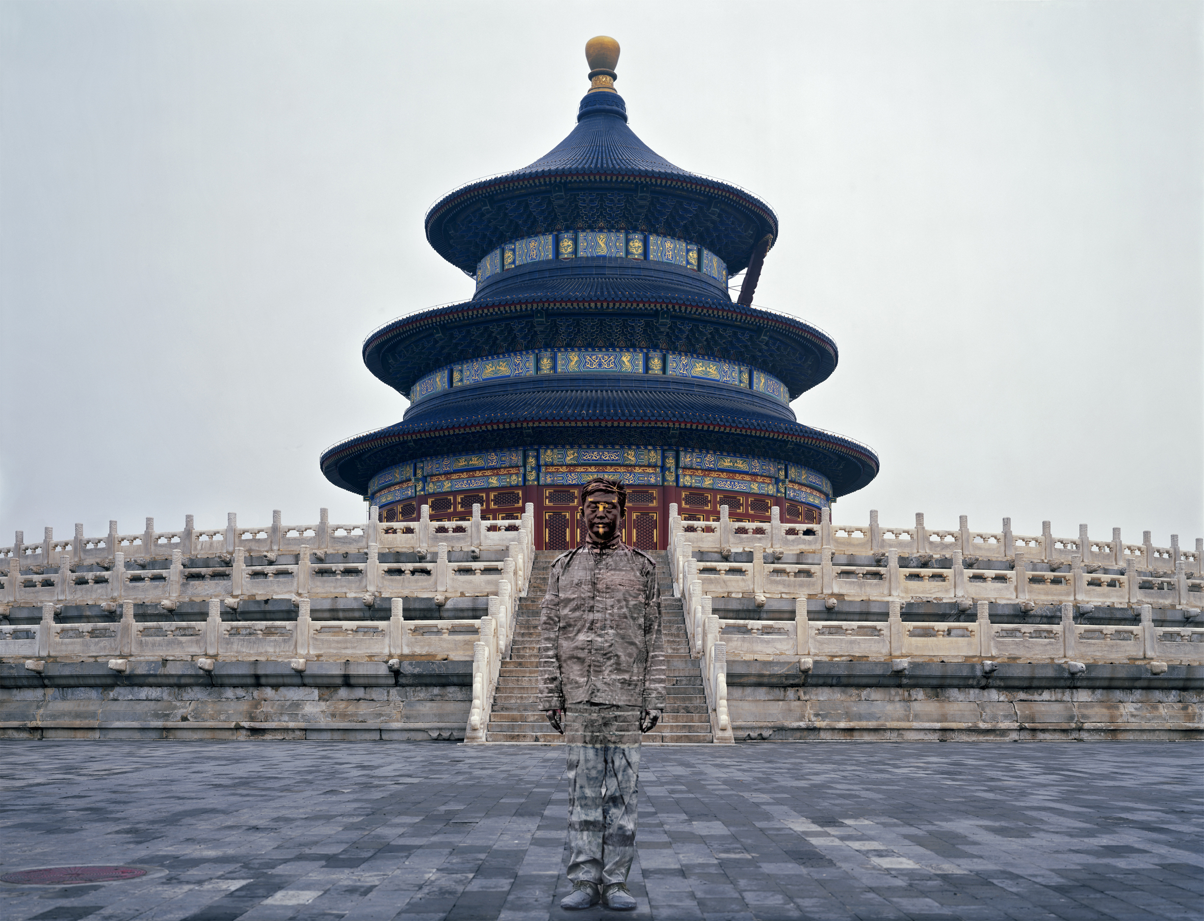 Liu Bolin,  Temple of Heaven, Hiding in the City,  2010 | Courtesy Galerie Paris-Beijing