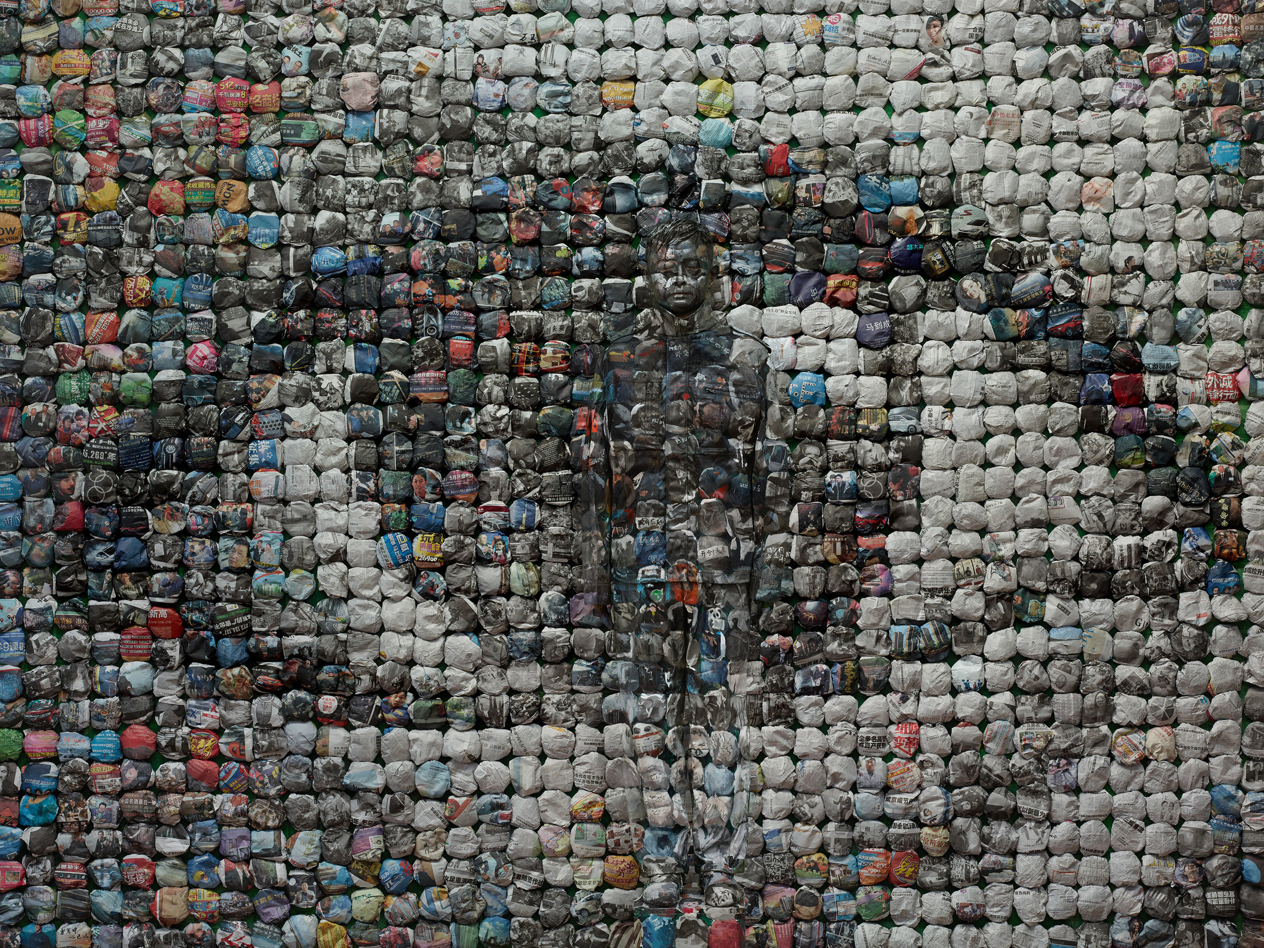 Liu Bolin,  Your World, Hiding in the City,  2014 | Courtesy Galerie Paris-Beijing