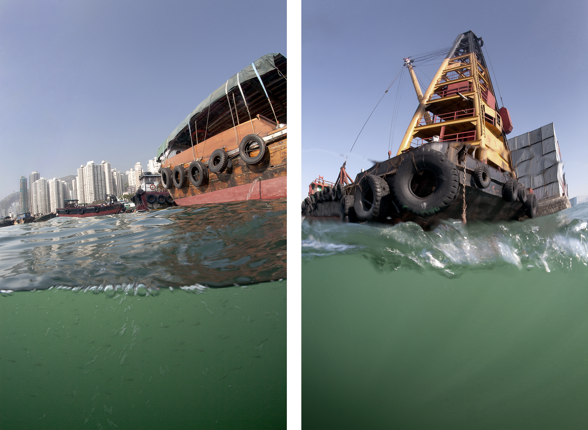 Hong Kong Island. Ap Lei Chau, 2009 | Kowloon. From a Boat in Victoria Harbour, 2009