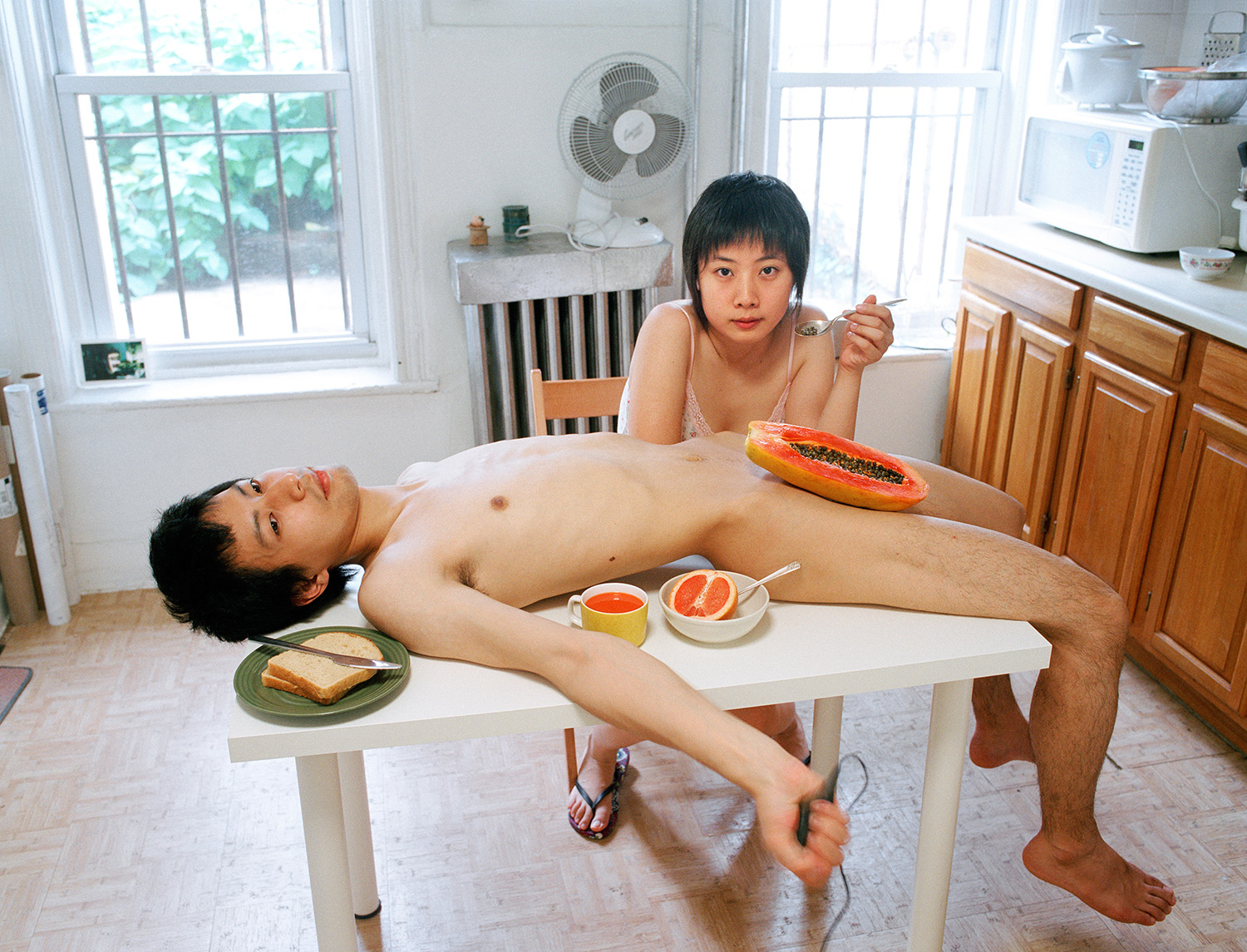 Pixy Liao,  Start your day with a good breakfast together , from the  Experimental Relationship  series, 2009. Courtesy of the artist.