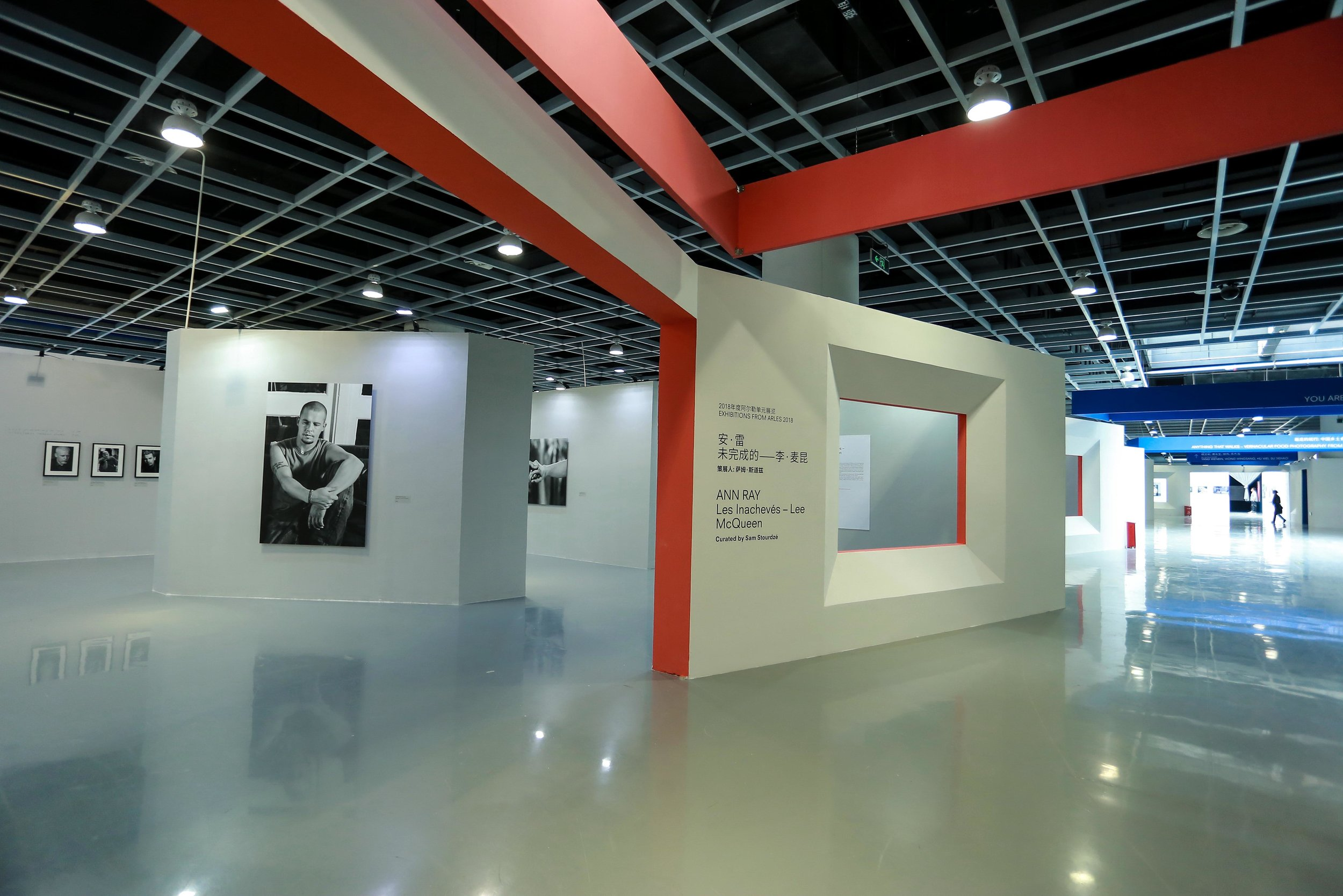 View of Ann Ray's exhibition,  Les Inachevés - Lee McQueen  in 2018 © Jimei x Arles International Photo Festival, China (jimeiarles.com)