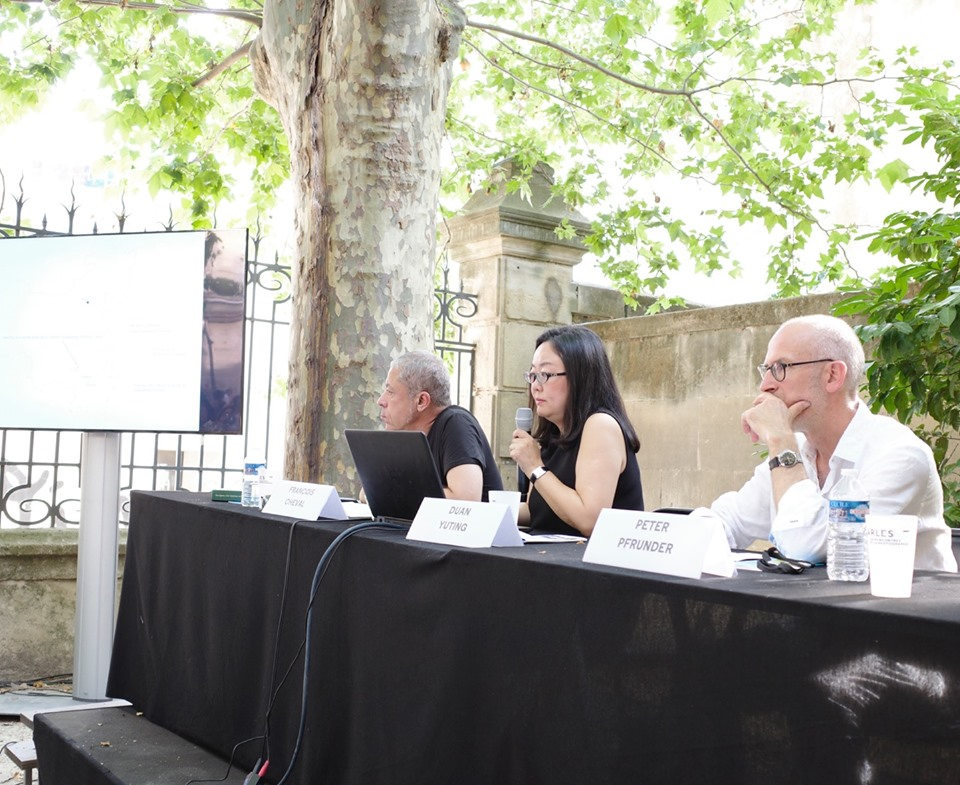 Press Conference about the Lianzhou Museum of Photography held on 3rd July 2019 in Arles © Lianzhou Foto