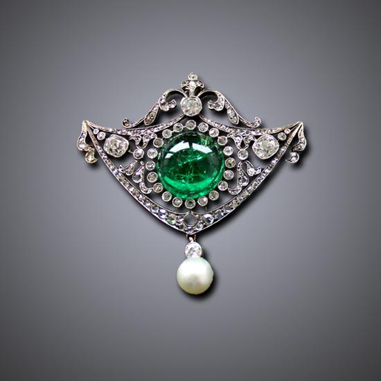 Antique Victorian Emerald Pendant