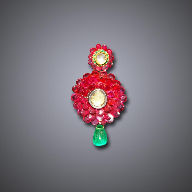 Antique Mughal Ruby Pendant