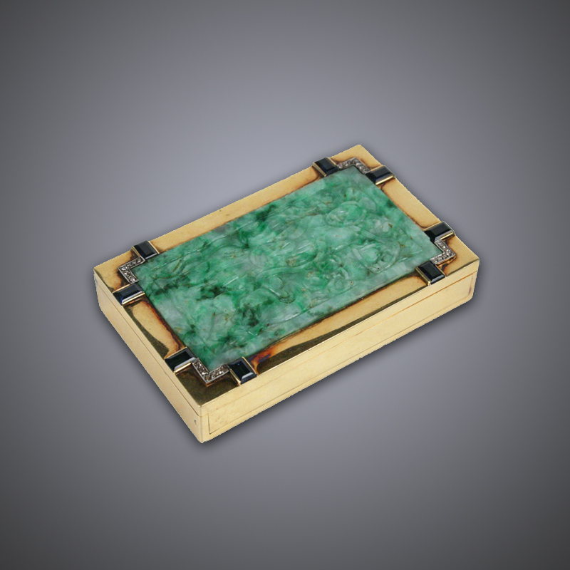 Art Deco Jadeite Box