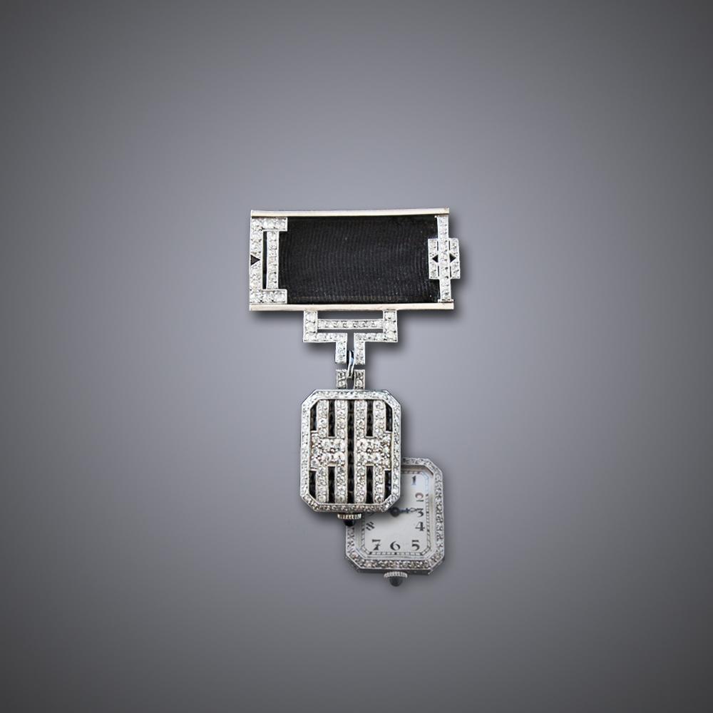 Art Deco Longines Lapel Watch