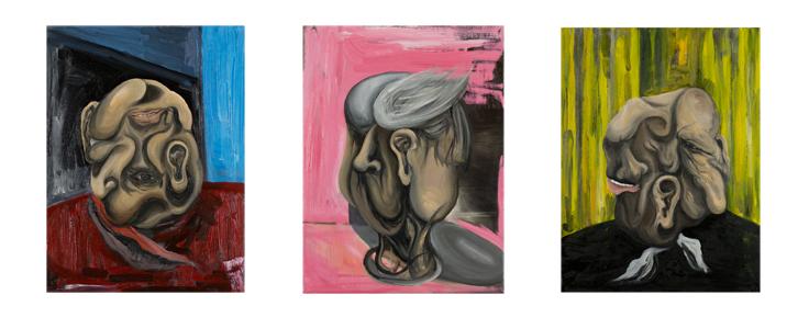 Three studies for a portrait