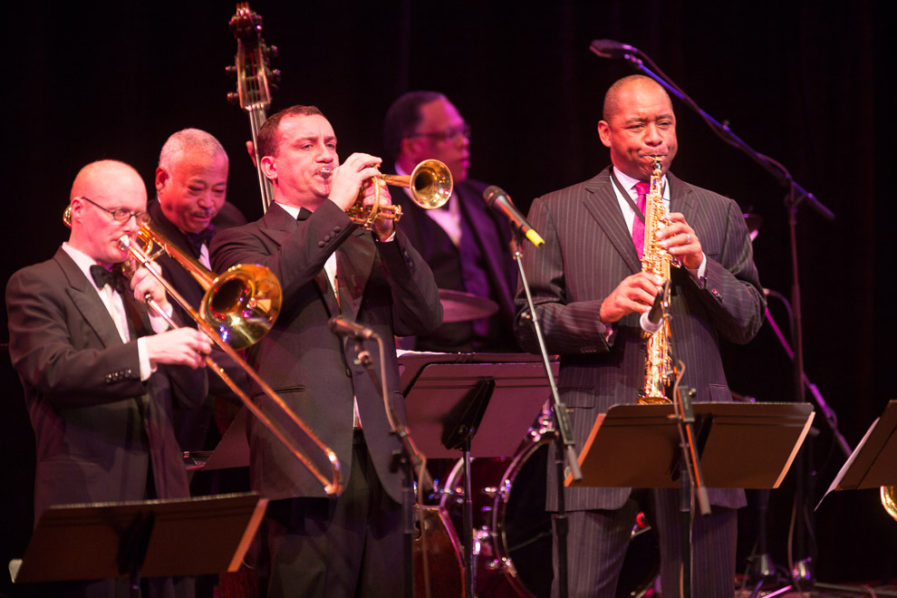 David Marriott, Jr. performing with Branford Marsalis and Seattle Repertory Jazz Orchestra
