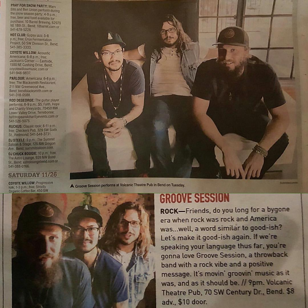 Flattered and excited to be in 2 printings here in Bend, OR! We're getting pumped for tomorrow night at the   Volcanic Theatre Pub  . Let's make it good-ish again!!!