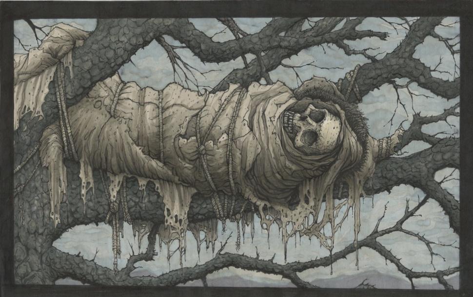 Grave in Tree