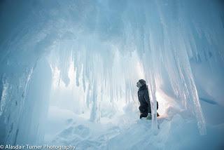 Inside and ice cave in the Erebus Glacier, Antarctica.