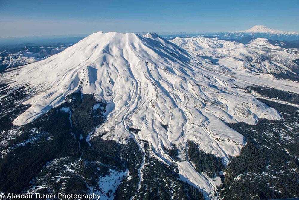 Mount Saint Hellens - Shot from a Dehavilland Beaver