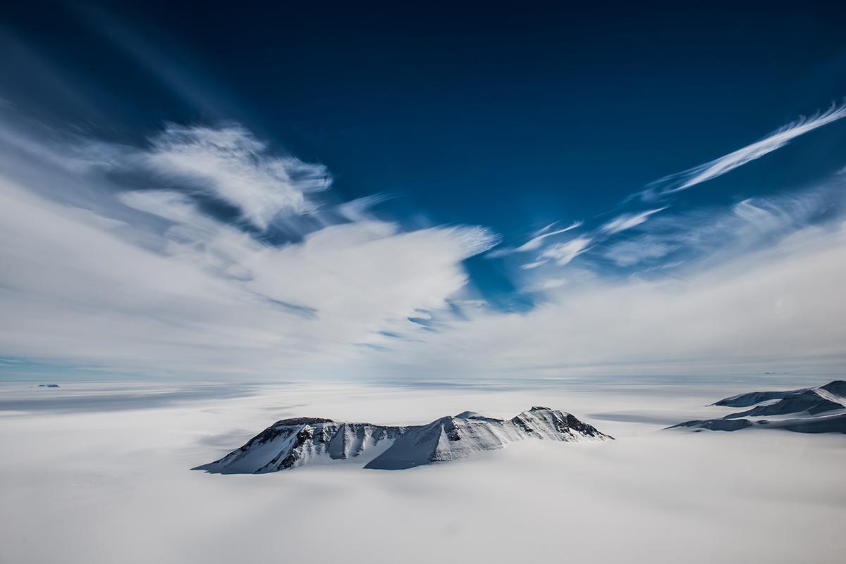 Wallabies Nunatacks, Antarctica. Shot from a Bell 212.