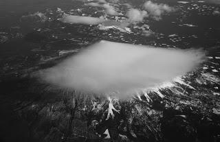 Mount Shasta, California.  Shot from a 737.
