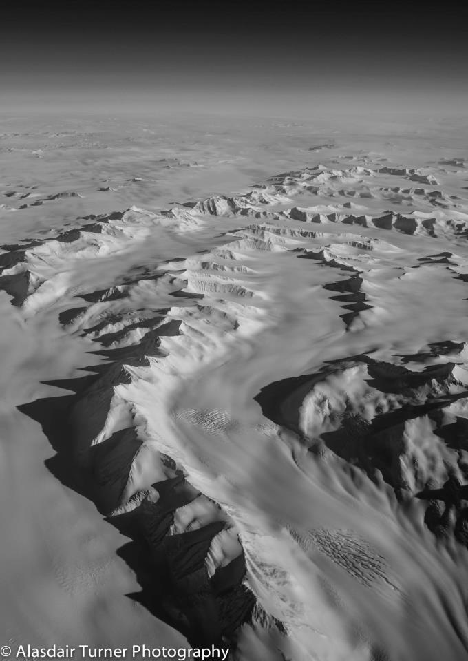 The Trans-Antarctic Mountains. Shot from a C-17.