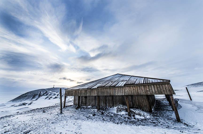 Captain Scott's Discovery Hut, Hut Point Peninsula, Antarctica.