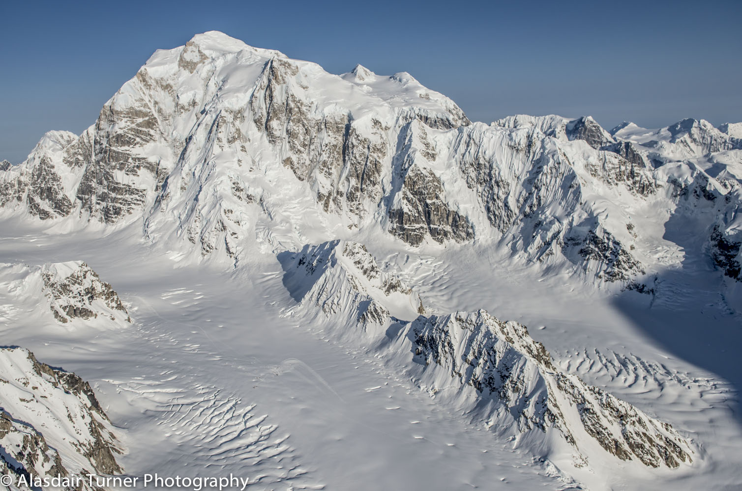 Mount Hunter from the north side. Click on the image to purchase.