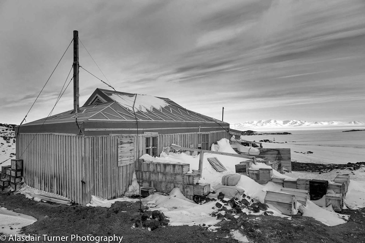 Shackleton's Nimrod Hut at Cape Royds, Antarctica.