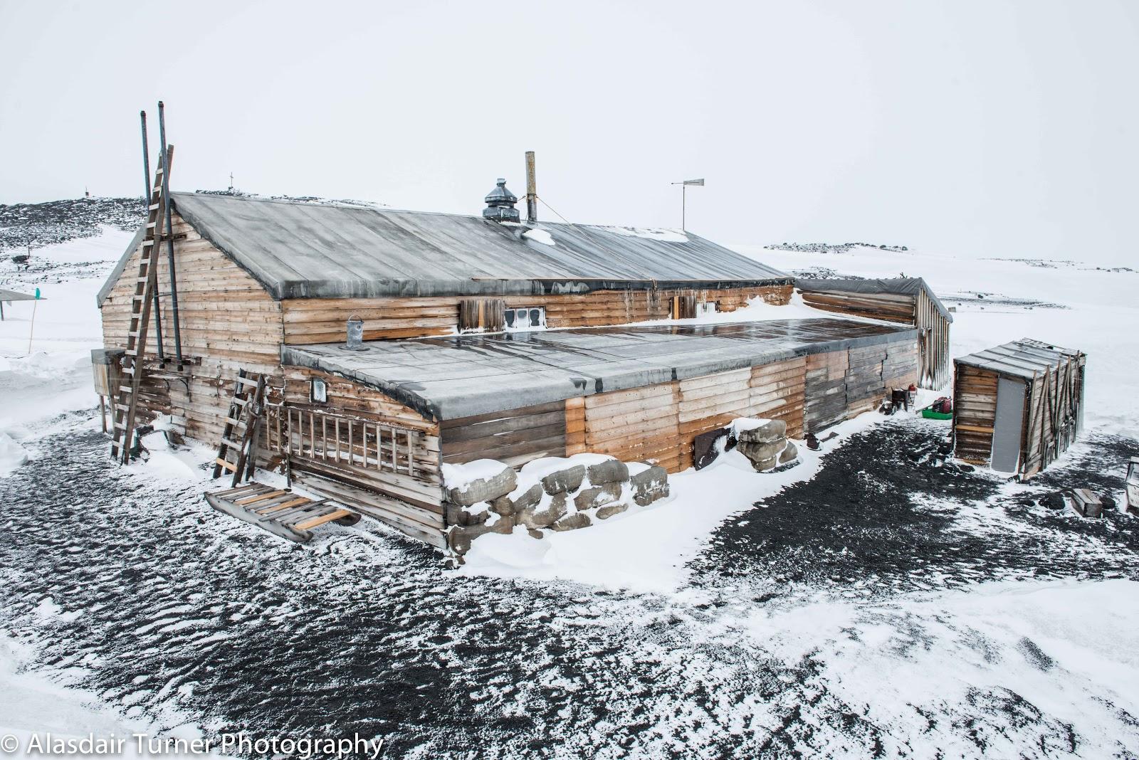 Looking south over Scott's Terra Nova hut.