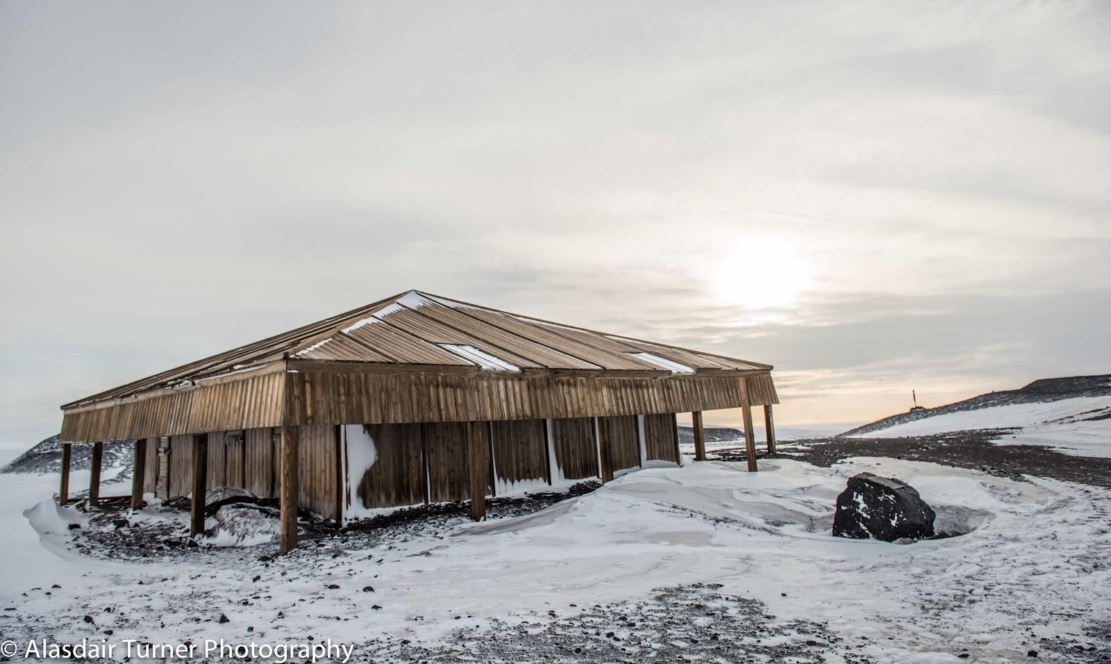 Captain Scott's Discovery Hut at Hut Point, Antarctica.