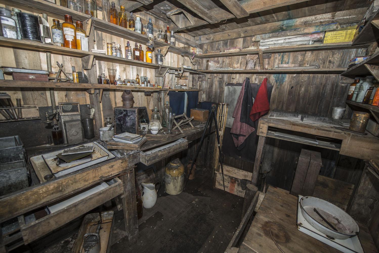 Herbert Ponting's Darkroom
