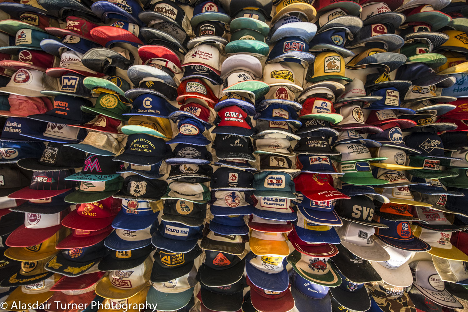 """Toad River Lodge is apparently the location of a """"world famous"""" hat collection. Hmmm. ahhhh impressive"""