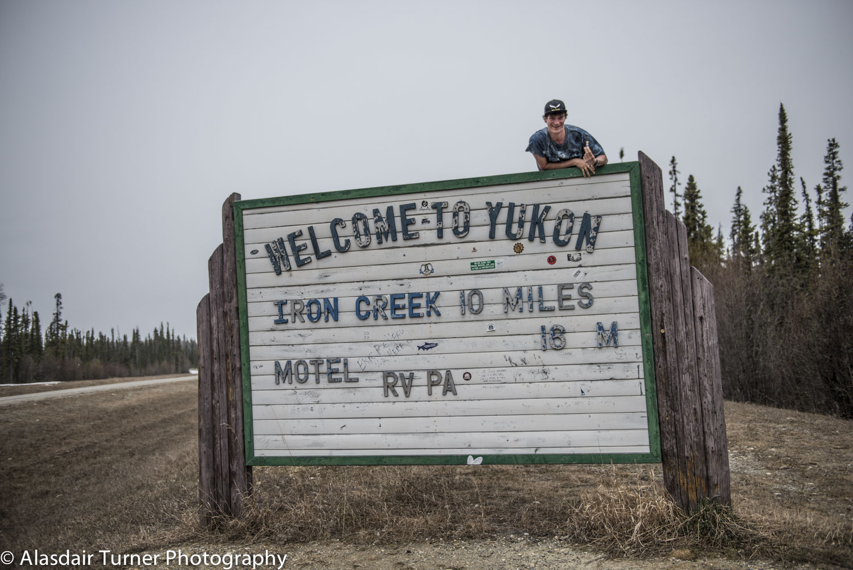 Entering the Yukon.