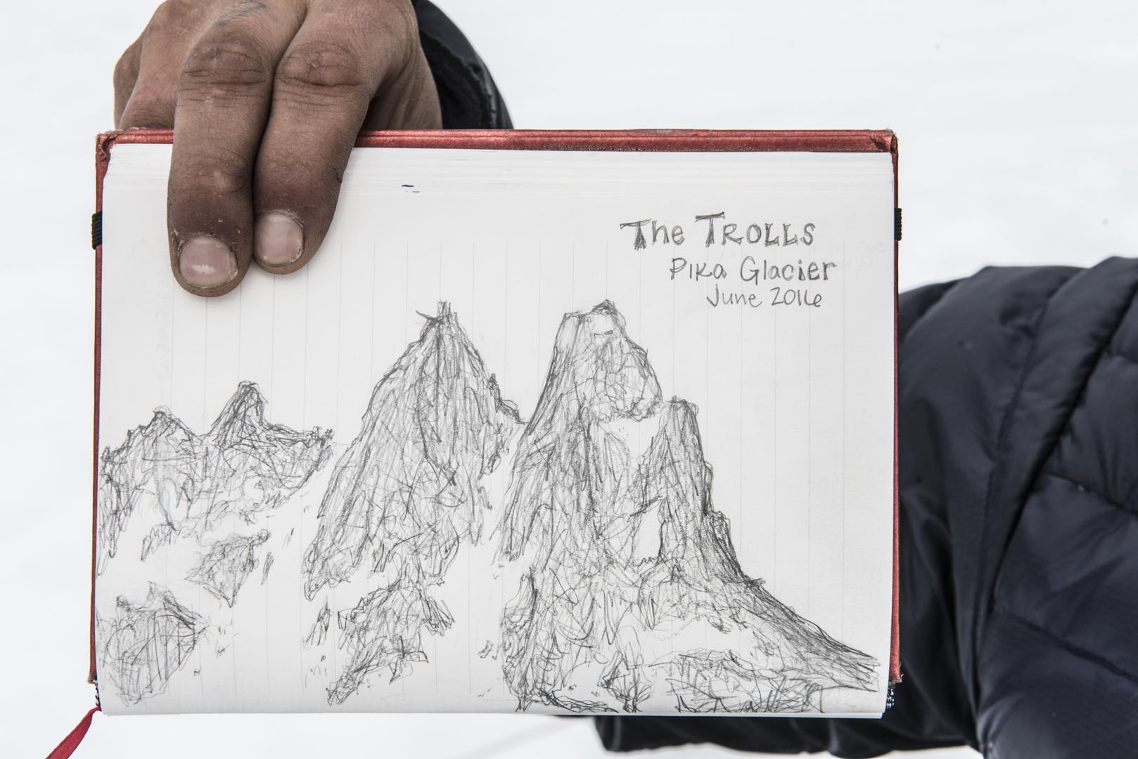 A greatsketch of the Trolls by Katlynn drawn on our weather day.