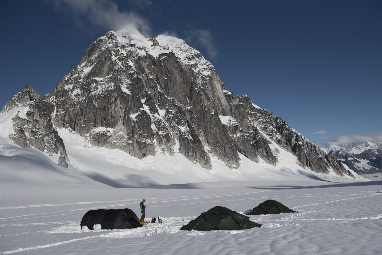 Our Camp on the Pika Glacier.