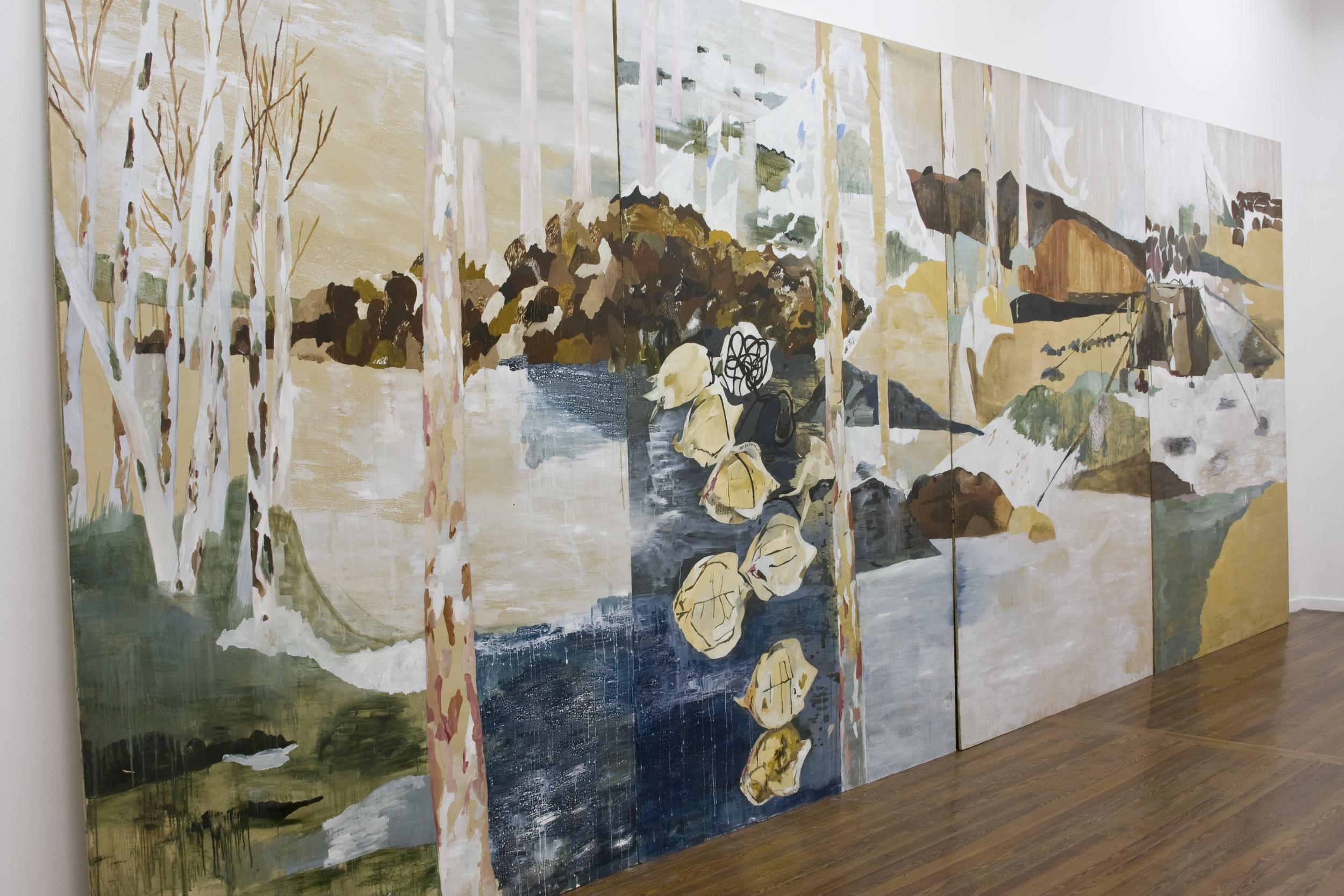 orilla, 2009, 4 paneles de 2.60 x 1.80 m .jpg