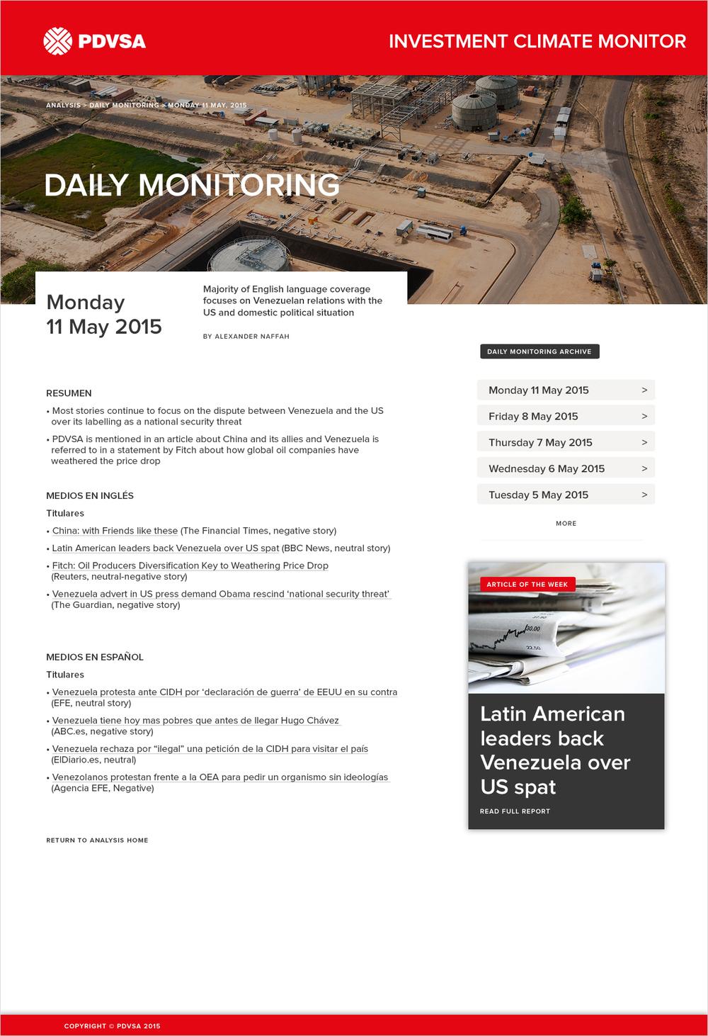 Daily media monitoring