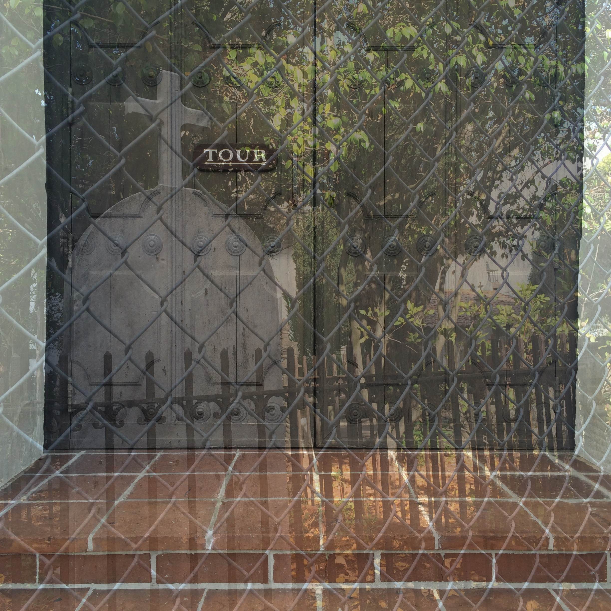 Alexa Eisner, layered images of Mission Dolores, SF