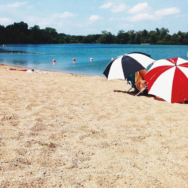 Beach bummin' on Cedar Lake