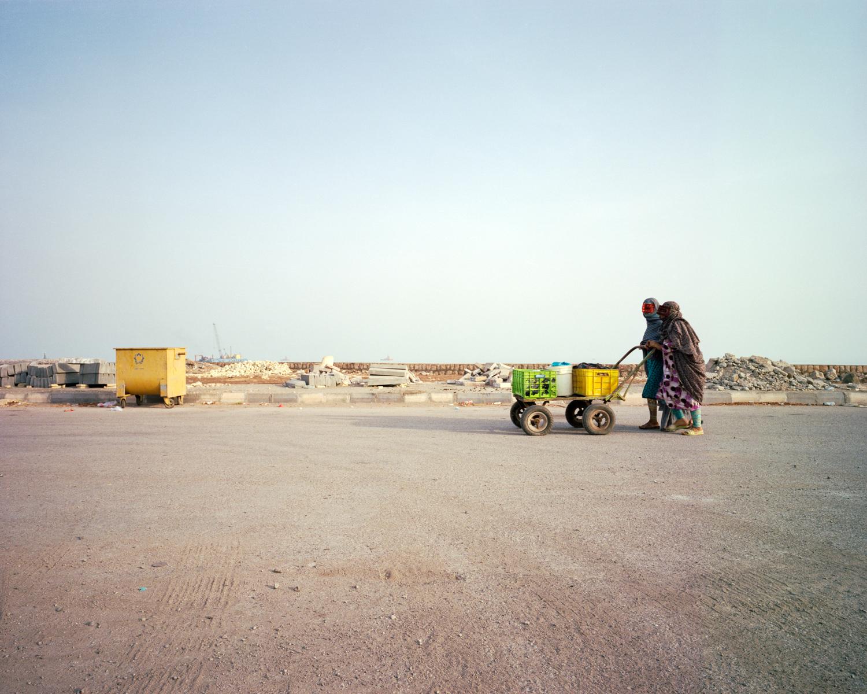 Bandari women returning from the morning markets in the province of  Hormozgan.