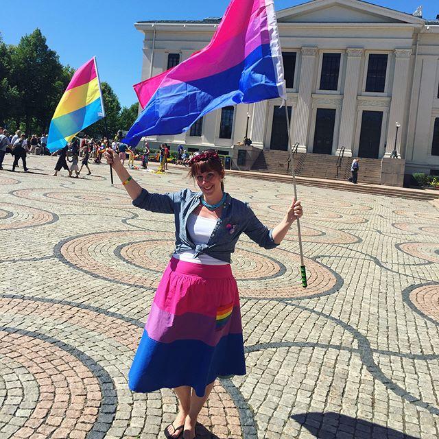 Happy Pride, y'all. 🏳️🌈 #bisexual #pansexual #bisexualpride #pansexualpride #oslopride #oslopride2018 #bivisibility #pride #pride🌈