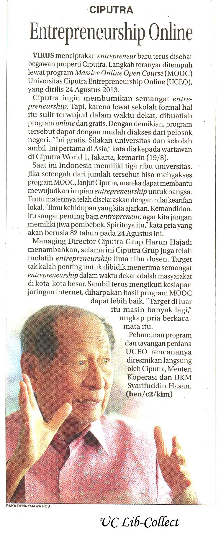 Entrepreneurship Online.Jawa Pos.20 Agustus 2013.Hal.16.jpg