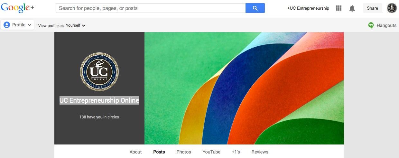 UC Entrepreneurship Online - Google+.jpg