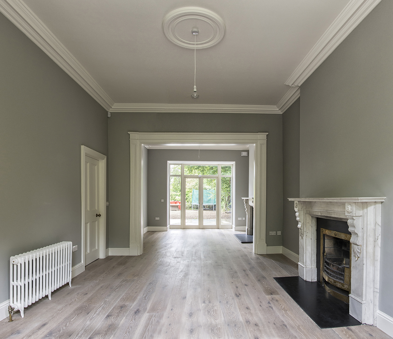 Refurbished living and dining rooms