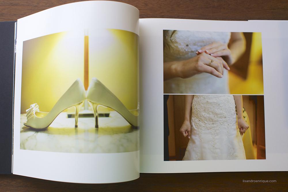 Fotos de Detalles de una Boda: zapatos, ramo de Novia, Vestido de Novia.