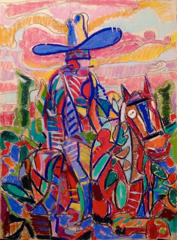 "La Conquista 28"" x 32"" Acrylic on Canvas"