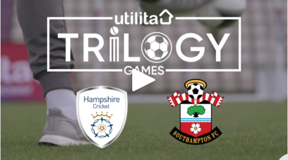 The Utilita Trilogy Games: Hampshire Cricket vs Southampton FC - we filmed the friendly competition for the power sponsor at the Ageas Bowl.