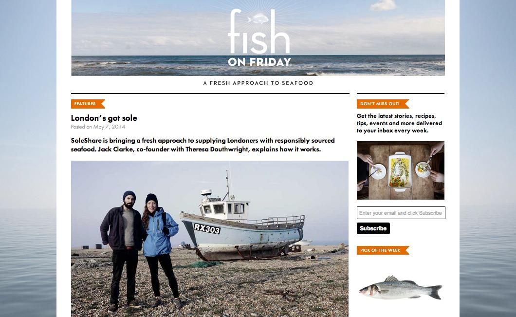 Fish on Friday.  May 2014.